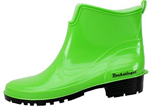 Bockstiegel® Saskia Femmes - Demi Bottes en Caoutchouc élégant (Tailles: 36-42), Couleur:Light Green/Black;Taille:36