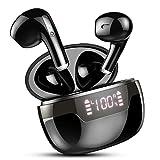 Auriculares Inalámbricos, Auriculares Bluetooth 5.2 Estéreo Cascos Inalambricos con IPX7 Impermeable, Reproducci 40 Horas, USB-C Carga Rápida Auriculares con Estuche de Carga, Pantalla LED Inteligente