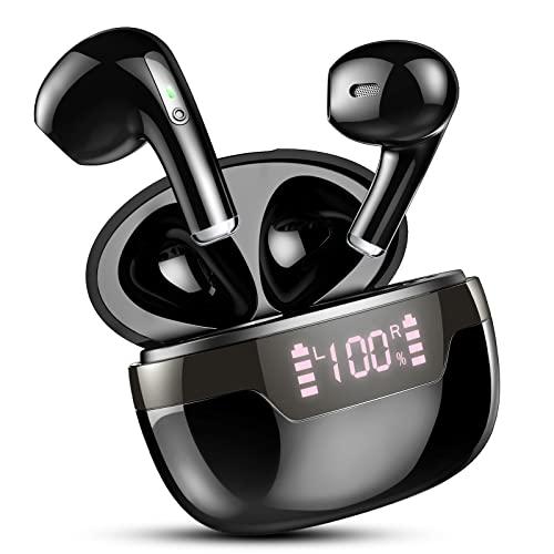 Cuffie Bluetooth 5.2, Auricolari Bluetooth Senza Fili con Stereo HiFi, Microfono, Super Leggero, In Ear Cuffiette Wireless Sport IP7 Impermeabili, Display LED, 40 Ore di Riproduzione, Ricarica Rapida