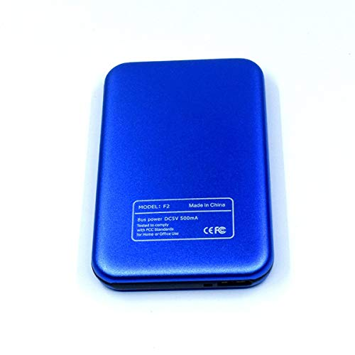 Gugutogo Disco Duro Externo Azul de 2.5 Pulgadas Disco Duro Externo de 2Tb Usb3.0 Dispositivos de Almacenamiento en Disco Externo HD Disco Duro de Escritorio para computadora portátil 2Tb