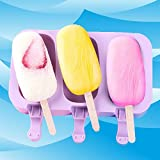 1Pcs Silicone Ice Lolly Cream Mould Mold Summer Frozen Sucker Ice Mold Diy Homemade Popsicle Popsicle Magnum Molds