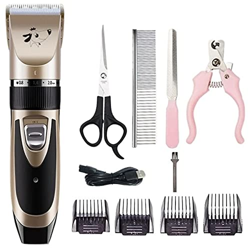Lx2280aj Dog Hair Trimmer Usb Rechargeable Low-noise Pet Hair Remover Cutter Grooming Cat Electrical Pet Clipper Machine #c