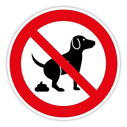 Hinweis-Aufkleber Hunde koten verboten I rund Ø 15 cm I Verbotsaufkleber Keine Hundetoilette I wetterfest I hin_379