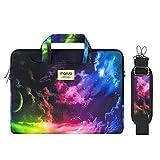 MOSISO Funda Protectora Compatible con 2019 MacBook Pro 16 A2141/15-15.6 MacBook Pro/Surface Acer ASUS de Portátil, Bolsa de Hombro Patrón Maletín Bandolera con Cinturón de Carro, Cielo Colorido