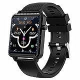 HQPCAHL Smartwatch Reloj Inteligente Impermeable con Monitor De Frecuencia Cardíaca, Monitor De Sueño, Podómetro De Seguimiento De Actividad Física con Pantalla Táctil para Android iOS,Negro