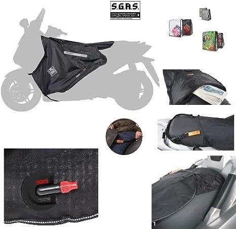 Compatible con Sym Symphony 125 DK 2011 11 cubrepiernas Termoscud Tucano Urbano R019-X específico para scooter manta térmica impermeable interior de ecopiel exterior de nailon