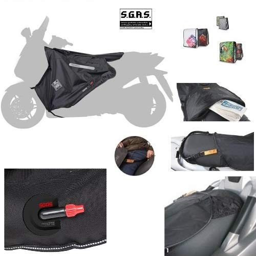 COMPATIBILE CON YAMAHA X-CITY 250 2008 08 COPRIGAMBE TERMOSCUD TUCANO URBANO R152C-X SPECIFICO PER SCOOTER COPERTA TERMICA IMPERMEABILE INTERNO IN ECOPELLICCIA ESTERNO IN NYLON