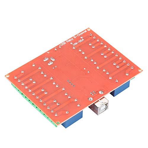 Astibym Interruptor de Controlador USB Módulo de Controlador Inteligente de PC Módulo de relé de Controlador de relé de 12 V Computadora para producción Industrial