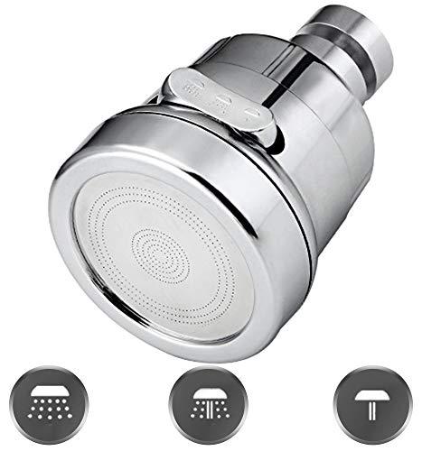 XGzhsa aireadores de grifo, Aireador de agua para la cocina, Filtro de boquilla de grifo con 3 funciones de pulverización Idea a prueba de salpicaduras y ahorro de agua para cocina de baño (Corto)