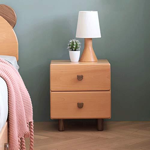 Original element massivholz nachttisch doppel pump Nordic modernen minimalistischen buche lagerschrank seitenschrank cartoon lagerschrank Cartoon bär griff form importiert buchenholz grün holz wachsöl