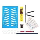 Plantilla para Moldear Cejas 10 Estilos, Kit de Plantillas de Cejas para Maquillaje y Formas, Kit Herramienta de Maquillaje Para Principiantes DIY