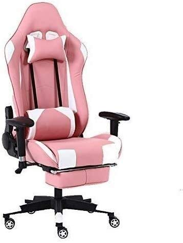 Armchairs GSN PC Computer Desk Chair,Ergonomic Gaming Chair High-Back Executive Lumbar Massage Support Footrest Ergonomic Padded Footrest Padded Office Chair