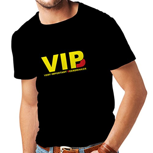 lepni.me Männer T-Shirt Sehr wichtig Biertrinker - Alkohol, betrunken, lustig Trinksprüche - Humorvolle Geschenkideen, Bar oder Partykleidung (Large Schwarz Gelb)
