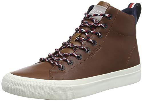 Tommy Hilfiger Herren Leon 19a High Hohe Sneaker, Braun (Natural Cognac Gtu), 44 EU