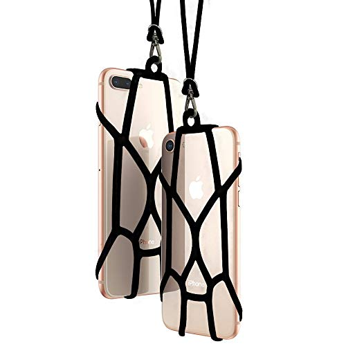 Handy Lanyard Case Strap seosto Universal Handy Sling Umhängeband Silikon Halterung Schutzhülle mit für iPhone XS/Xs Max/XR/X/8 Plus/8/7 Plus/7/6S Plus/6S Samsung Galaxy S8/OnePlus 5/5T (2 Pack)