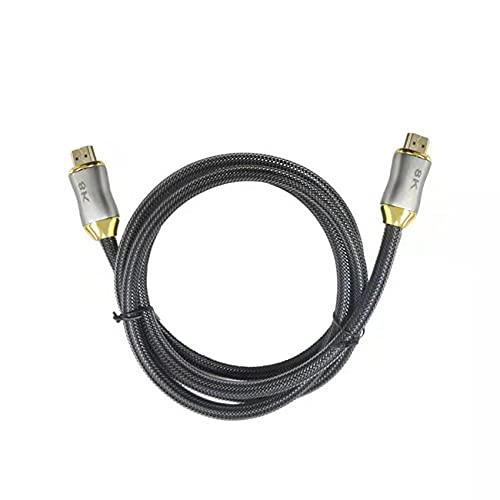 Uniqueheart Cable de Alta definición Compatible con HDMI Versión 2.1 8K 60Hz Cable de conexión de monitorización de TV Compatible con HDMI 2.1 - Negro 1m