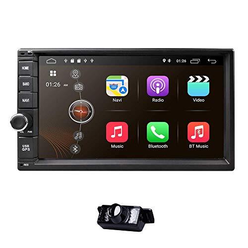 W-bgzsj Nav Universal 2 DIN Coche Estéreo Auto Radio GPS Navegación de GPS 7 Pulgadas Pantalla táctil Android 8.1 2GB RAM en Dash Player Multimedia WiFi BT DSP Dab + Digital TV OBD2