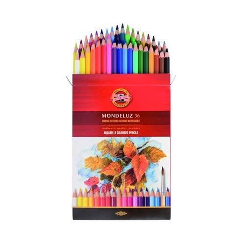 Koh-I-Noor Mondeluz Fruit Aquarell Paquet de 36 crayons de couleur d'aquarelle