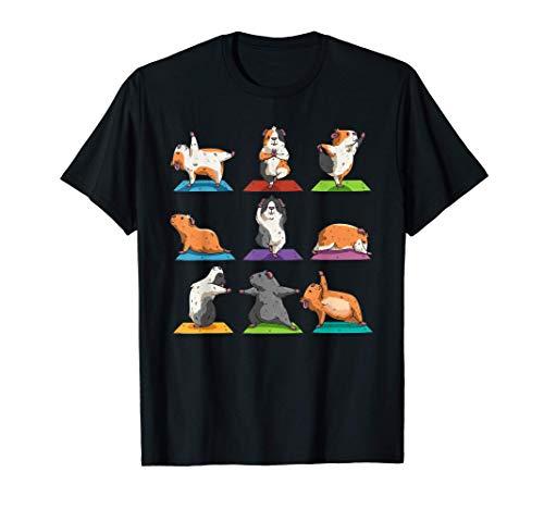 Cadeau d'entraînement de position de yoga de cochon d'Inde T-Shirt