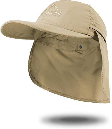 normani Sommer Cap 'Savannah' mit einrollbarem Nackenschutz Farbe Khaki Größe L