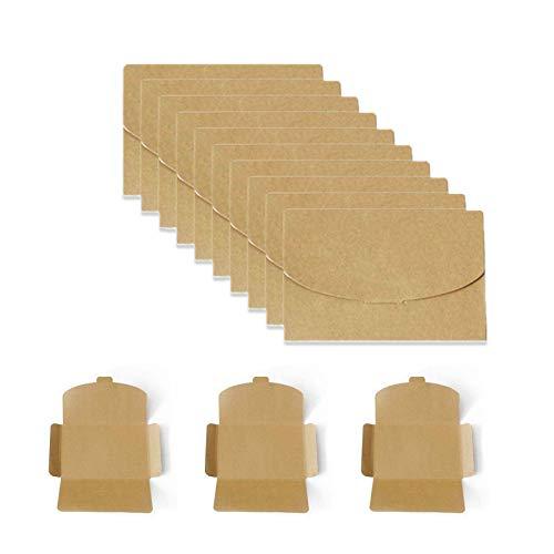 Kraftpapierumschläge,Briefumschläge,Umschläge,Fotohalter für Postkarten,Handgefertigte süße Umschläge für Grußkarten,Einladung,Geburtstagskarten (Gelb,50 Stück,16 * 10.5cm)