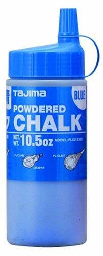 TAJIMA Micro Chalk - Blue 10.5 oz (300g) Ultra-Fine Snap-Line Chalk with Durable Bottle & Easy-Fill Nozzle - PLC2-B300