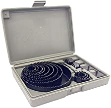 """Hole Saw Kit 16 pieces 3/4""""-5"""" Full Set in Case with Mandrels and Install Plate"""