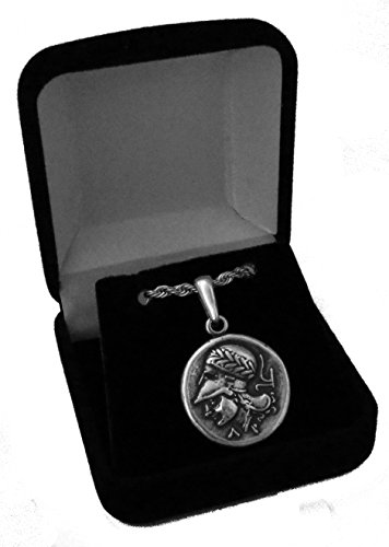 Golden Artifacts Percy Jackson Teen Gift, Athena and Pegasus, Greek Coin Pendant and Chain, Unique Gift, Greek Mythology (PJPC43-S)