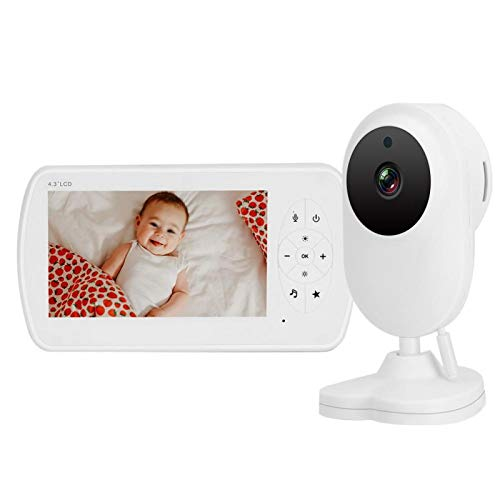 Baby Monitor 4.3 Pulgadas IR Full Glass USB Chargeable Remote Control niñera CAM para vigilancia de Seguridad(European regulations)
