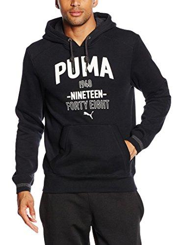 PUMA Herren Sweatshirt Style Athl Hooded Sweat Fl, Black, M