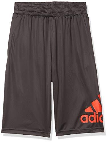 adidas Camiseta de Baloncesto Pantalones Cortos Crazylight, Hombre, Utility Black/Blaze Orange