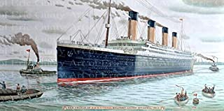 1/2 Sheet - The Titanic Birthday - D21939 - 2D Edible Cake/Cupcake Party Topper - D21939