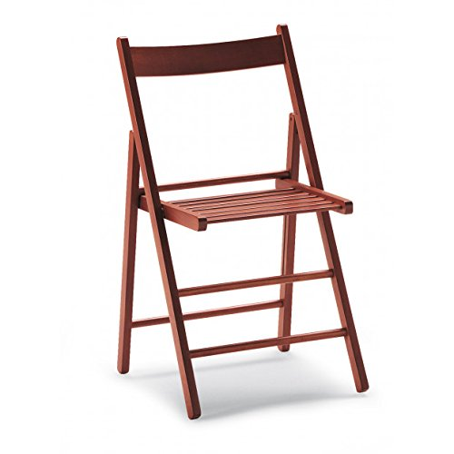 Mobili Ilar Lot 4 chaises Roby Pliable – Noyer