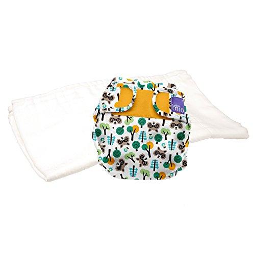 Bambino Mio, miosoft zweiteilige windel (probepackung), waschbär maske, Größe 1 (<9kg)