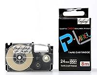 カシオ ネームランド用 互換 テープカートリッジ 24mm XR-24X 透明地黒文字