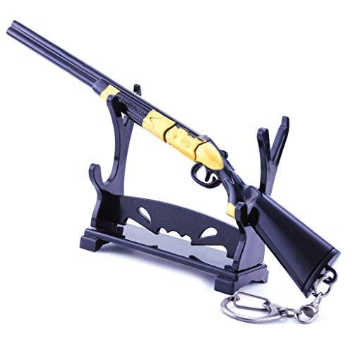 Juguete de pistola de juego de juguete de 17,5 cm / 6,9 pulgadas. Juguete de metal S686 modelo de pistola llavero decorativo para fiestas, accesorios de personajes, regalo creativo