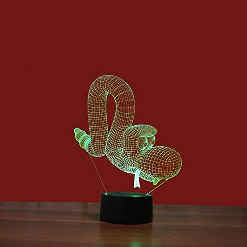 Yujzpl 3D-illusielamp Led-nachtlampje, USB-aangedreven 7 kleuren Knipperende aanraakschakelaar Slaapkamer Decoratie Verlichting voor kinderen Kerstcadeau-Ballon grote ogen
