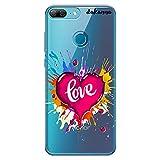 dakanna Coque pour [ Huawei Honor 9 Lite ] en Silicone Souple, Design [ Coeur Aquarelle avec Amour...