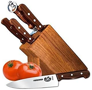 Victorinox Swiss Army Cutlery Rosewood Knife Block Set, 7-Piece