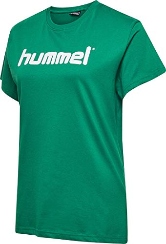 Hummel Damen Hmlgo Cotton Logo T shirts, Evergreen, L EU