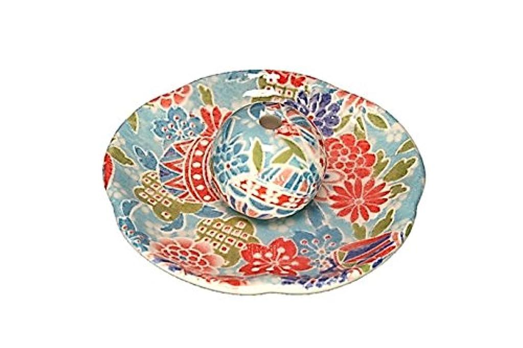 エクスタシー職人鑑定京雅 青 花形香皿 お香立て 日本製 製造 直売