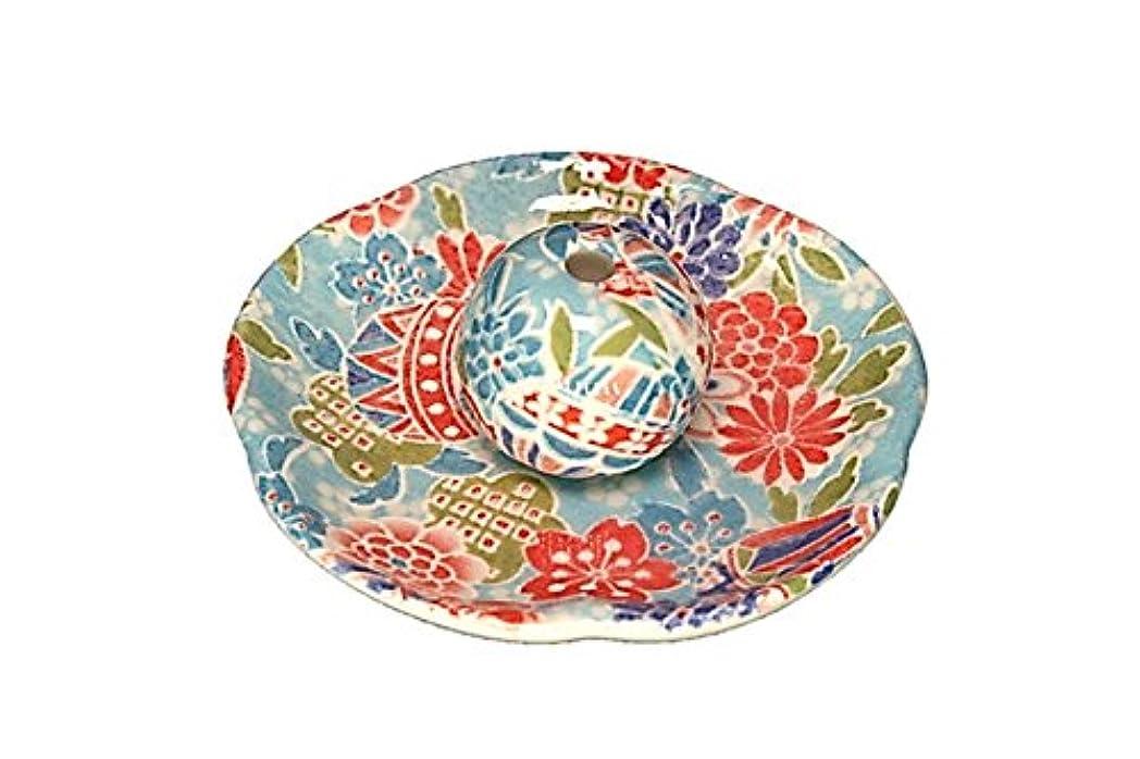 準備ができて難民マーク京雅 青 花形香皿 お香立て 日本製 製造 直売