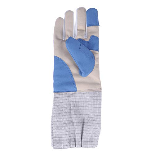 LIOOBO 1 Stück Fechthandschuh Verdicken Professionelles Fechten Wettbewerb Trainingshandschuh Sporthandschuhe - XS (Blau)