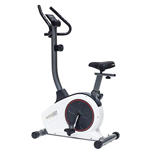 TechFit B450 Bicicleta Estática de Ejercicio, Magnética, Máquina de Cardio de la Resistencia de la Pérdida de Peso con la Silla de Montar Ajustable, los Sensores del Pulso y el Monitor LCD