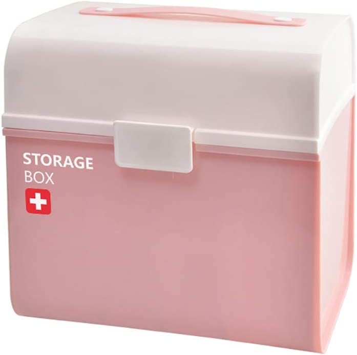 FHealth Plastic First Aid Box R Case Medical Max 83% OFF Memphis Mall with Pill