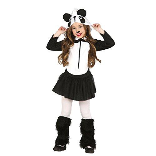 NET TOYS Disfraz de Panda Infantil Atuendo Carnaval Oso niños S 116/128 cm años 5 - 6 Traje Animal para niña Vestido Divertido pandita Ropa animalito Fiesta temática Zoo