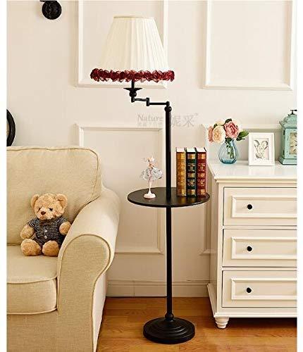 XUSHEN-HU Stehlampe Wohnzimmer Schlafzimmer Einfache Lagerung Vertikaler Couchtisch Tablett Fernbedienung Dekorative Lampe Modern (Lampenschirm-Farbe: 12)