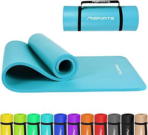 Gymnastikmatte Premium inkl. Tragegurt + Übungsposter + Workout App I Hautfreundliche Fitnessmatte 190 x 100 x 1,5 cm - Aquamarin - Phthalatfreie Yogamatte