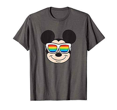 T-Shirt Mickey Mouse Rainbow Sunglasses
