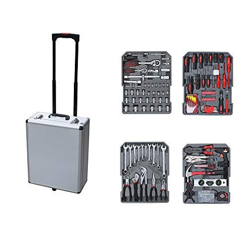 349 tlg. Werkzeugkoffer Werkzeugkasten Werkzeugtrolley Ratschenkasten Bitsatz Schraubendreher Werkzeugset Werkzeug Trolley Set